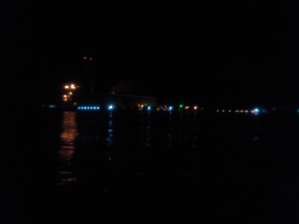 Often arrive into port at night